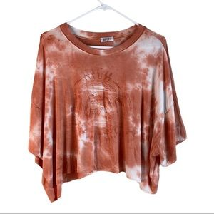 Wst Cst Women's Dyed Graphic Crop Top